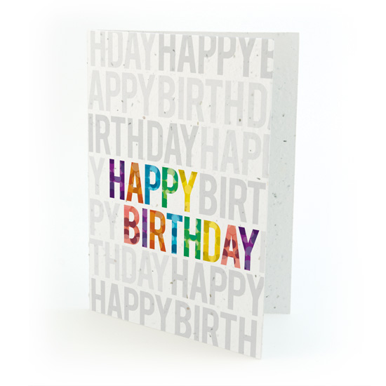 Eco-Friendly Birthday Card Botanical PaperWorks Sustainability Story