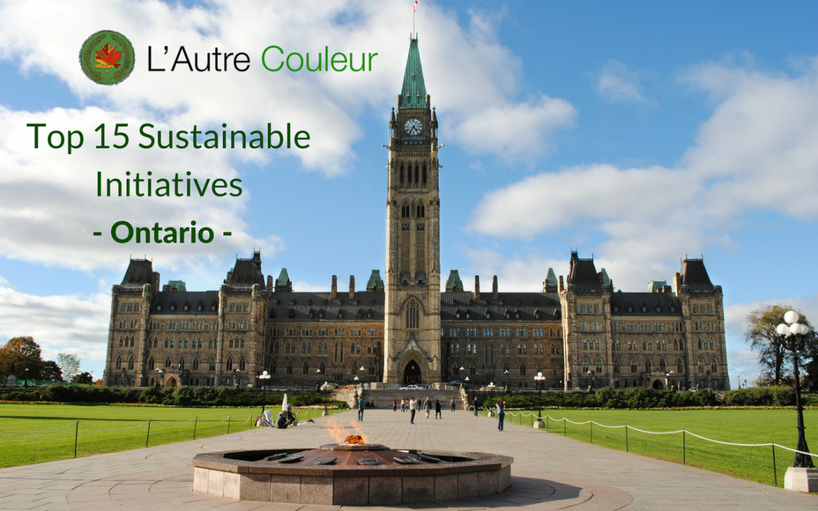 Top 15 Sustainable Initiatives in Ontario - 150 days of sustainable initiatives