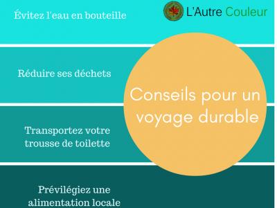 Conseils pour un voyage durable
